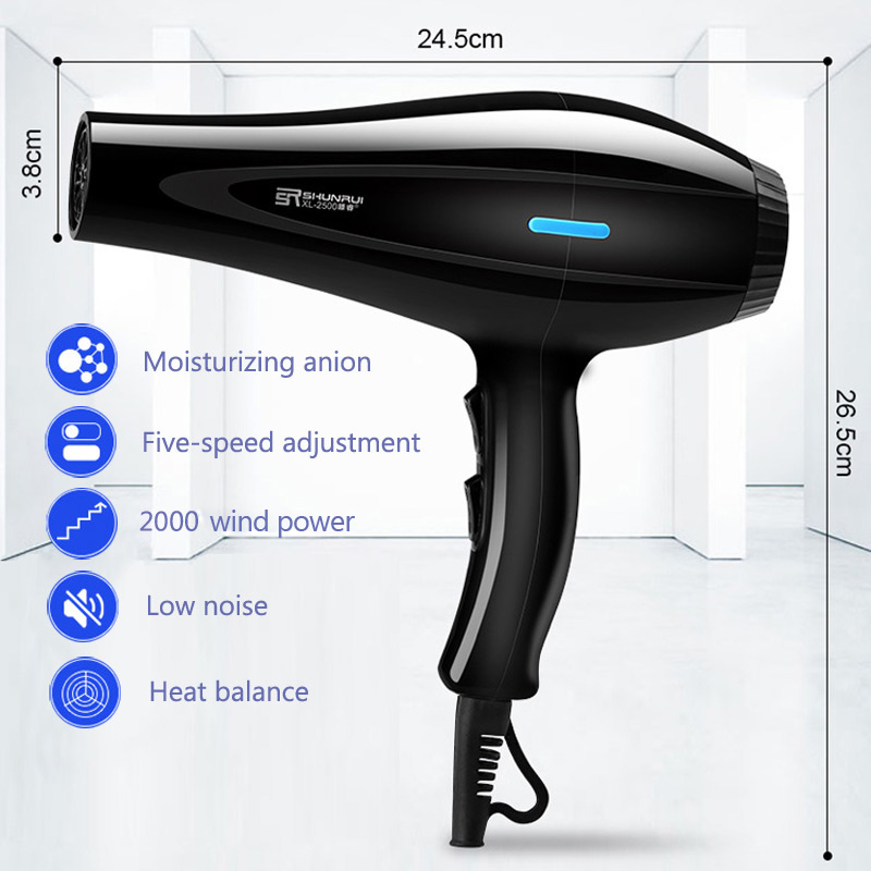 220V Hair Dryer Blow Air Nozzles Diffuser Comb Brush Salon Household Hairdryer Blower Hair Styling Tools 43D