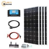 Boguang 4*100w solar panel 400w solar system kit