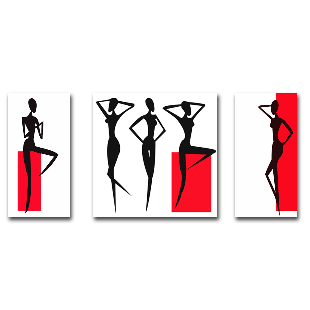 Modern Abstract Woman Painting Prints Canvas Art Decoration Bedroom Pictures For Friends Gift