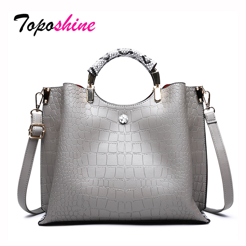 Ladies Handbag Crocodile-Pattern Messenger-Bag Shoulder Large-Capacity High-Quality Casual