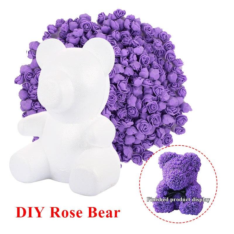 DIY розовый медведь наборы пены розовый медведь плесень Свадебная вечеринка украшения подруга юбилей день Святого Валентина подарок