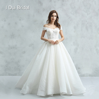 Off Shoulder Ball Gown Wedding Dress Luxury High Quality Bridal Gown