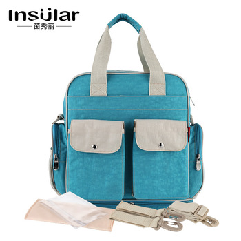 Insular Baby Nappy Bags Nylon Baby Diaper Bag Large Capacity Mummy Stroller Pouch Backpack Multi-functional Baby Nursing Bags