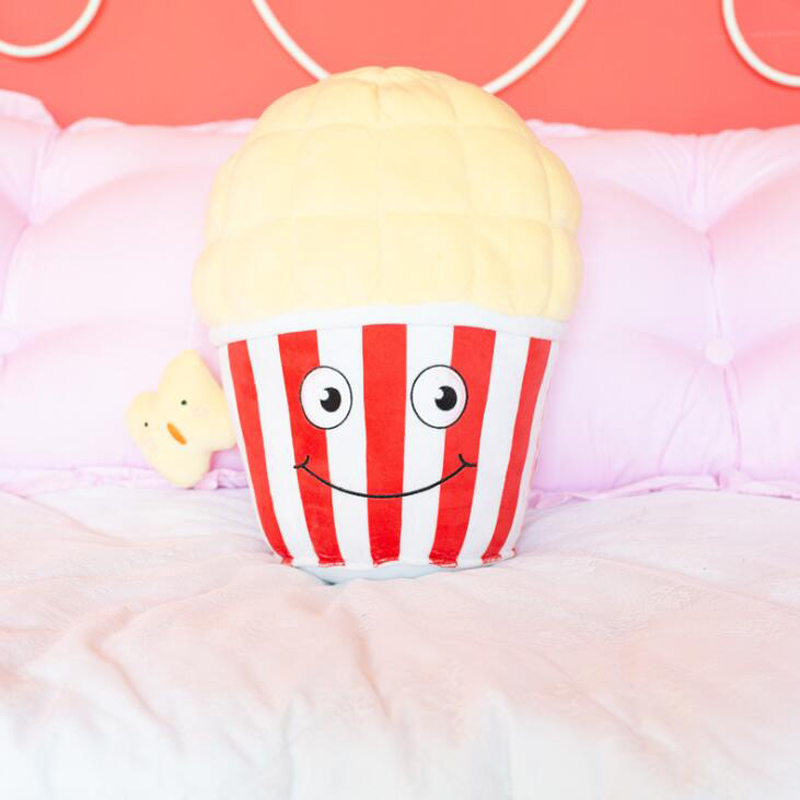 1PCS Creative Simulation Snacks Popcorn Pillow Home Sofa Decoration Plush Toy Cartoon Food Cushion Funny Send Friends Gift in Plush Pillows from Toys Hobbies