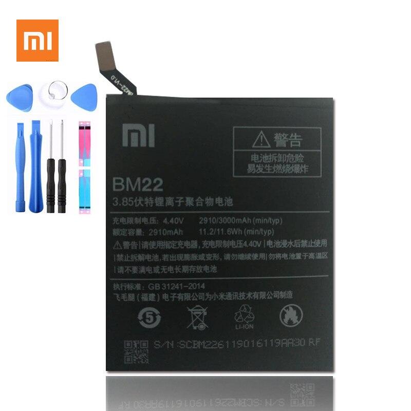 100% original Xiaomi BM22 batería Xiaomi Mi5 M5 batería, pila de 3000 mAh Mi5 batería 5 M5 MI 5 bm22 batería