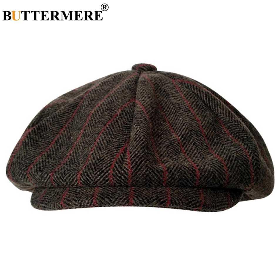 a9bccba488 ... BUTTERMERE Herringbone Octagonal Caps Men Wool Gray Newsboy Cap Vintage  Male Painter Hat Classic Autumn Eight ...