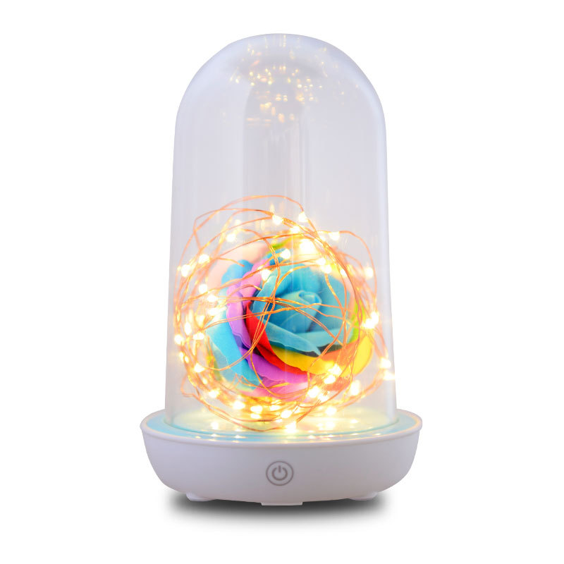 4pieces/Lot Nightlight Creative led Streamer Novelty Bedroom Bedside lamp USB Charging New Birthday Gift Wishing Streamer bottle