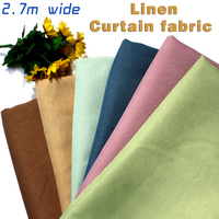 Linen Fabric Blackout Curtain Fabric Solid Colors Thick Tablecloth Upholstery Fabric 2 7m Wide Sold By