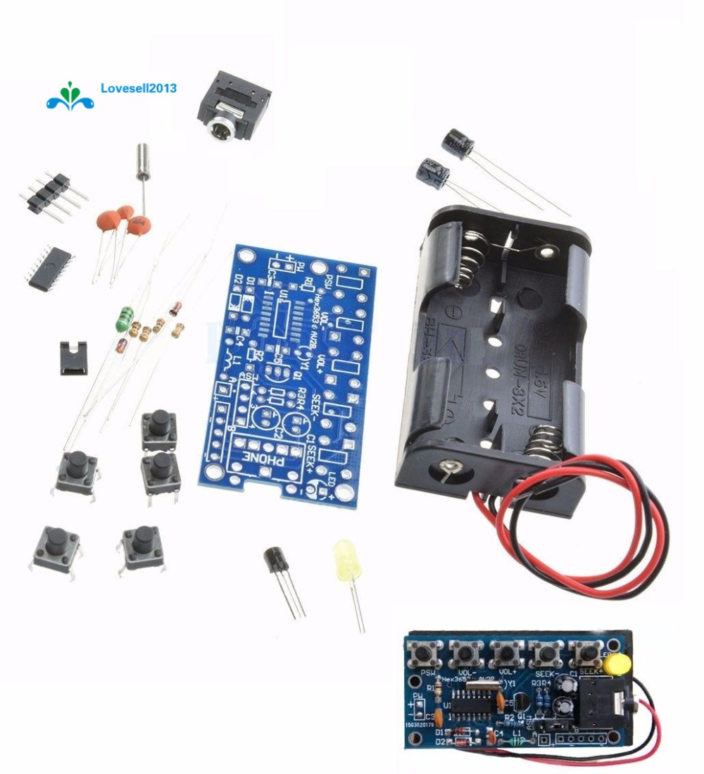 Wireless Stereo FM Radio Receiver Module PCB DIY Electronic Kits 76MHz-108MHz UK