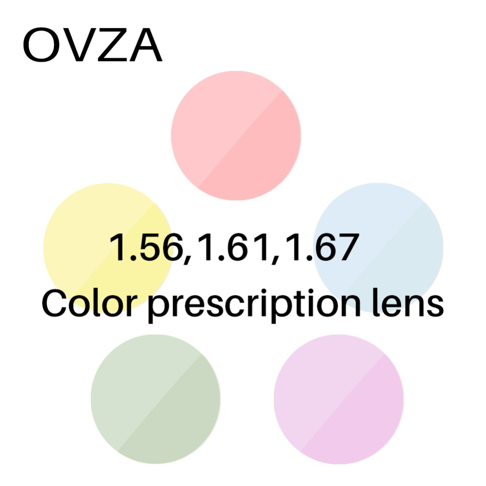 OVZA Prescription-Lens Lenses Optical-Tinted Myopia CR-39 Anti-Uv Resin
