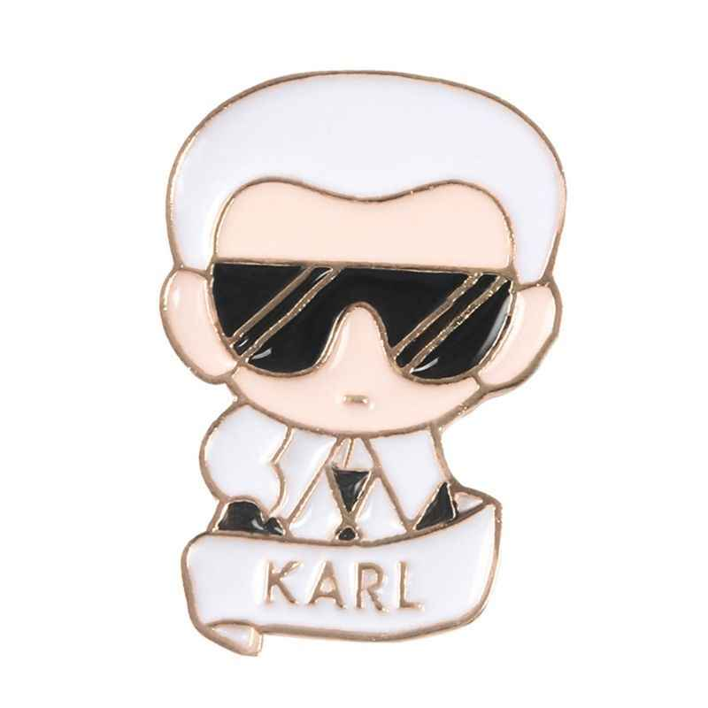Brooch Karl Famous Fashion Man Backpack Icons Badge Creative Casual  Jean Decoration Ornament Gifts Pins Jewelry Cl