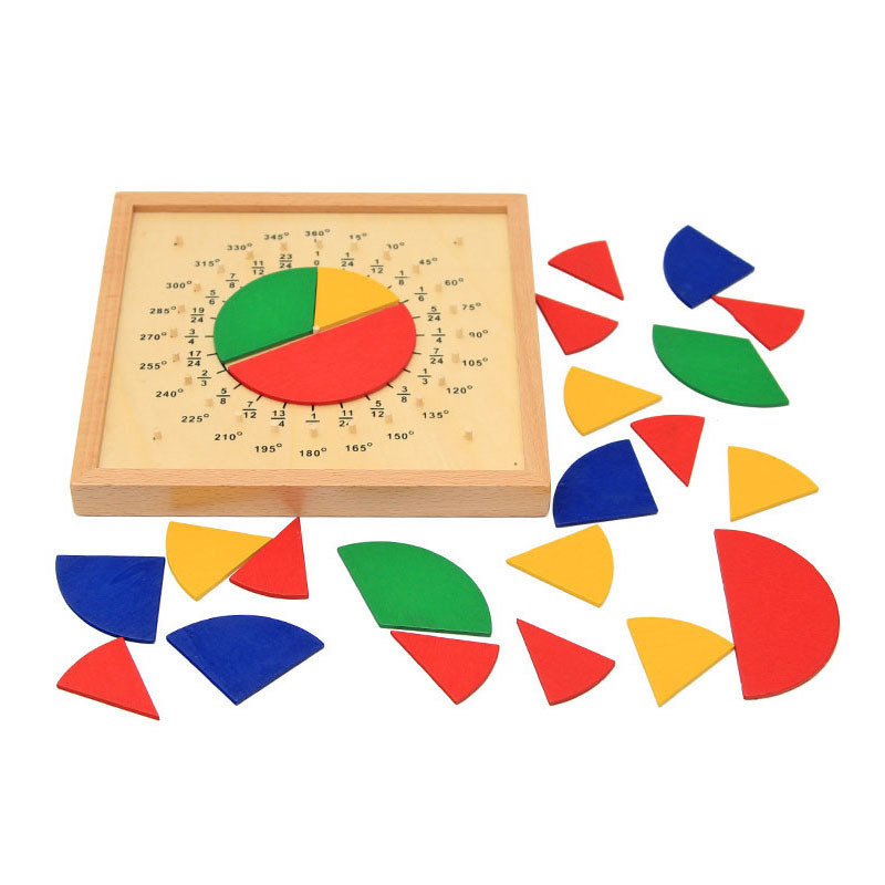 Board Baby Toys Circular Mathematics Fraction Division Teaching Aids Wooden Toys Child Educational Gift Math Toy XWJ323-