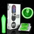 Davidsource 8 Pieces Ultra Thin Smooth Green Night Light Glow Condoms Latex Contraception Product Adult Sex Condom
