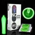 Davidsource 8 peças ultra fino suave verde noite luz brilhar preservativos de látex de contraceptivos produtos adultos do sexo preservativo