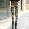 TIC-TEC 2017 мода камуфляж узкие джинсы женщина камуфляж джинсы тонкий плюс размер карандаш жан femme pantalones vaqueros mujer P2345