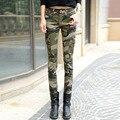 TIC-TEC 2017 moda camo skinny jeans mujer pantalones de camuflaje delgado más tamaño lápiz jean pantalones vaqueros mujer femme P2345