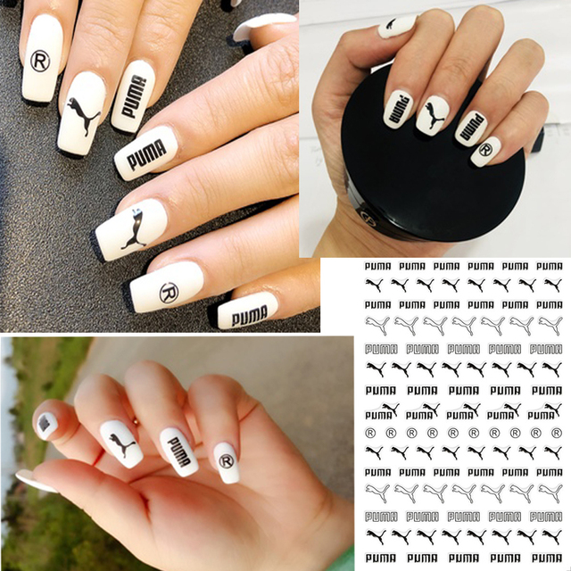 3D Nail Stickers logo Nail Stickers Adhesive Tips Nail Art Manicure ...