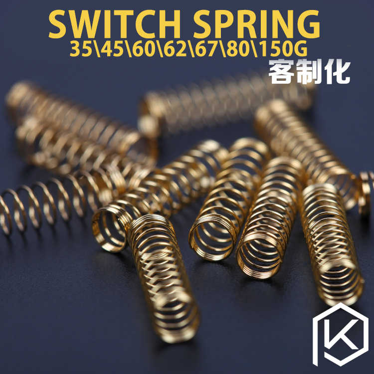 Switch Spring Emas Plating Spring 35G 45G 60G 62G 67G 80G 150G Kustom cherry MX Berlapis Emas Cherry MX Kompatibel