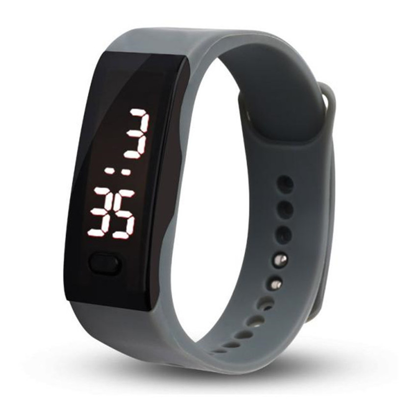 Mens Womens Rubber LED Watch Date Sports Bracelet Digital Wrist Watch 80611