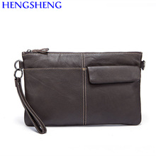 Hengsheng cheap price genuine leather men shoulder bag with top quality cow leather men handbag and