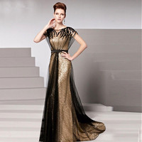 2016 Modern Mermaid Mother Of The Bride Dresses With Short Sleeves New Design Elegant See Through