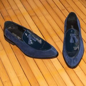 Image 2 - Daniel virea Leer en Suède Mannen Bruiloft Schoenen mannen Banket Loafers # b271 13