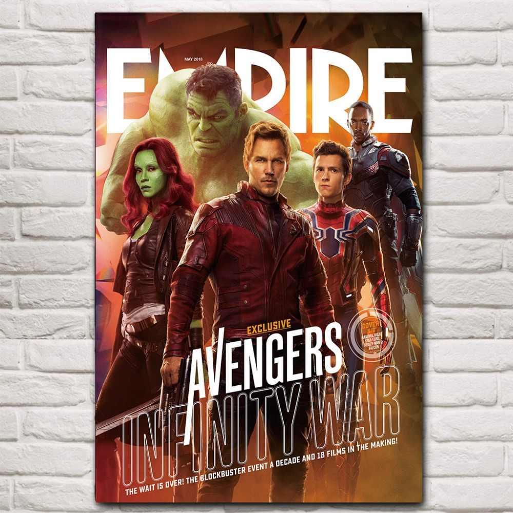 Новые мстители бесконечности войны Marvel 2018 Горячие постер о киноискусстве 12x18 24x36 дюймов шелковые светлые холщовые картина из 5 частей для стены