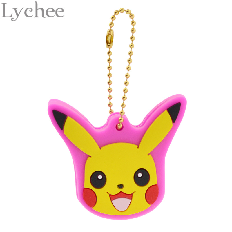 lychee-hot-japan-anime-font-b-pokemon-b-font-cute-silicone-pokeball-pikachu-key-cover-key-chain-key-ring-for-men-women