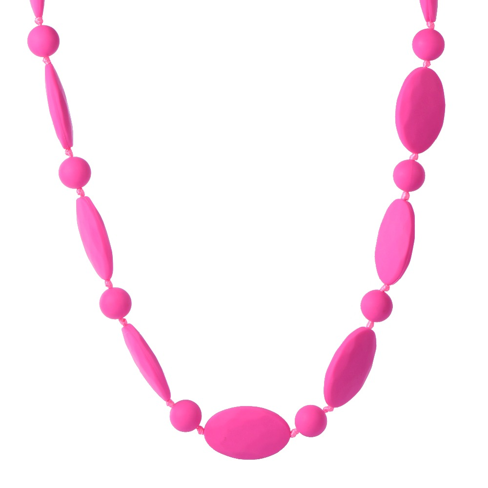 Breast feeding Necklaces Mom Silicone Teething Beads nursing Jewelry Baby Chewing Necklaces biting Teethers BPA free non-toxic