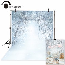 все цены на Allenjoy photography background snow forest Bokeh Winter Christmas theme backdrop professional photo background studio онлайн