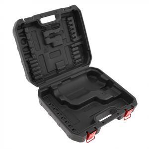 Image 5 - Mala de ferramenta elétrica, preta pvc + ferro broca ferramenta de 300mm de comprimento e 275mm de largura para broca elétrica