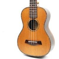 Afanti музыка 23 дюймов Малый Гитары/твердого красного кедра/23 дюймов Гавайские гитары укулеле (dga 116)