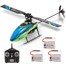 WLtoys V911S RC Helicopter 4CH 6G 6-Aixs Gyro Single Propelller Non-aileron RTF Toys for Kids Three Battery