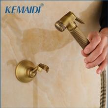 KEMAIDI, античная латунь, смесители для биде, настенный, ванная комната, Душ, туалет, кран с ручной душевой, аксессуары для ванной комнаты