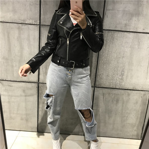 Image 5 - レディース本革ジャケット女性品質本革ジャケット moto & バイカーレザージャケット