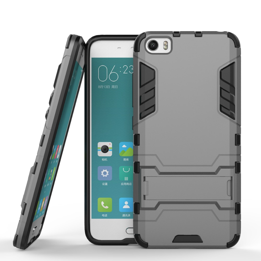 For Xiaomi Mi5 Mi 5 M5 M Silicone Pc Dual Layer Iron Man Lenovo S60 Softcase Soft Cover Jelly Case Shield 3d Armor Stand Impact Housing