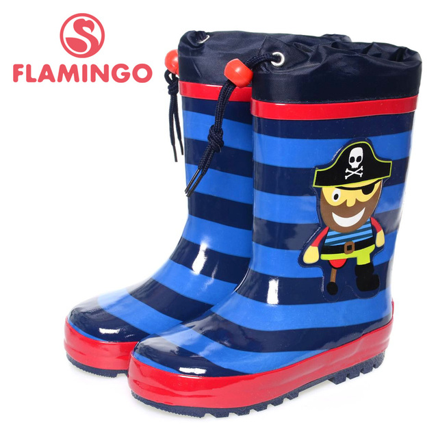 4b4a4b0acea4 FLAMINGO famous brand 2017 new collection spring-autumn fashion gumboots  with wool quality anti-