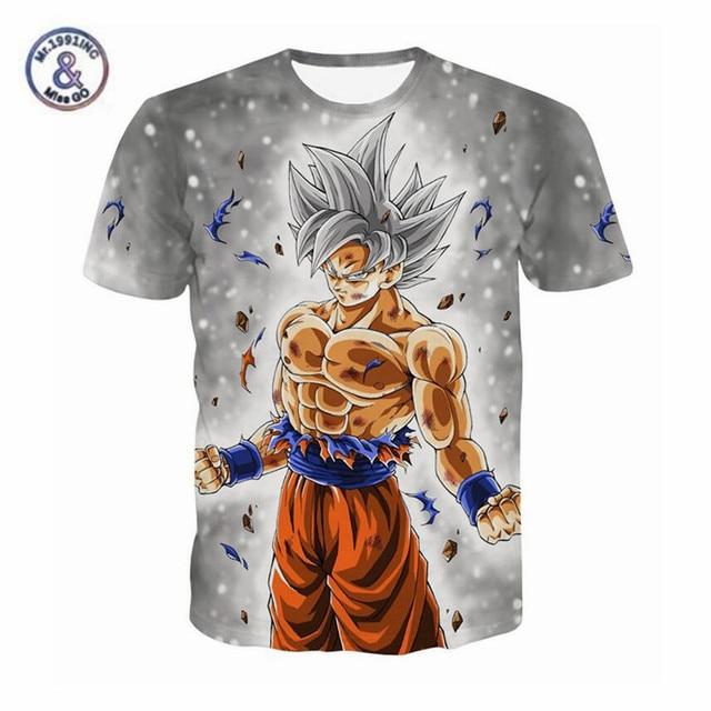 1443c3a248ccf9 3D Dragon Ball t-shirt Ultra Instinct Super Saiyan Goku gedruckt Anime Shirt  männer Dragonball