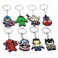 Мстители Брелок Тор Капитан Америка Халк Человек-Паук Бэтмен Дэдпул Ключевой Держатель Кольца Chaveiro Автомобилей Key Chain