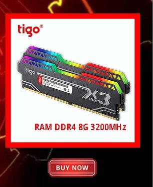 Tigo RAM LED Light PC Gaming Memory 16GB DDR4 3200 MHz for