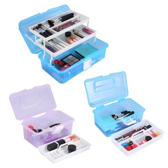 3Types Multifunctional Makeup Box Container Empty Nail Art Storage ...