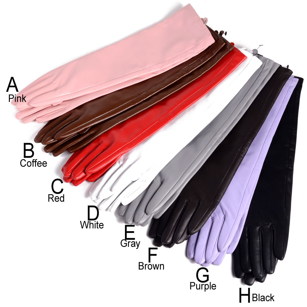 30cm-80cm Women's Ladies Real leather Overlength Party Evening gloves long gloves With Eleven colors