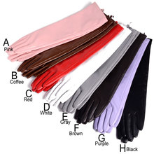 30cm-80cm Womens Ladies Real leather Overlength Party Evening gloves long With Eleven colors