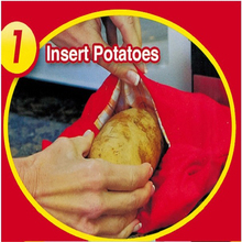 1PC Red Washable Cooker Bag Baked Potato Microwave Cooking Potato Quick Fast (cooks 4 potatoes at once) hot selling MI6