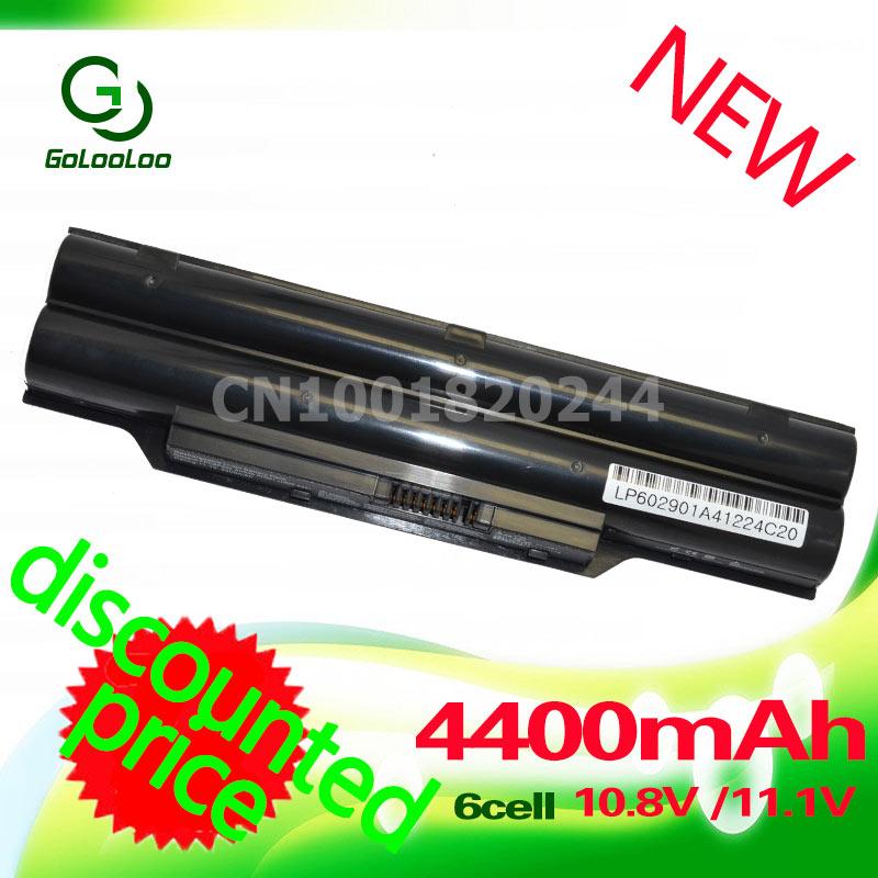 Golooloo 4400MaH Battery BP250 FPCBP250 FPCBP250AP For Fujitsu LifeBook AH531 A531 A530 AH530 LH52/C LH520 LH530 PH521 CP477891