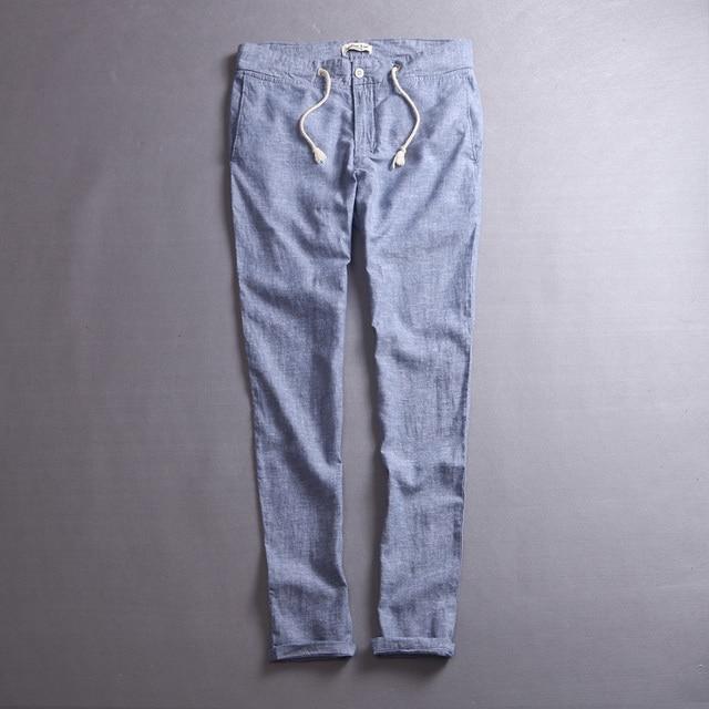 1f067f7dded 2016 New Design linen men Pants Men s Slim Fit Casual Pants men cotton  Fashion Straight Dress Pants mens Skinny Trousers men