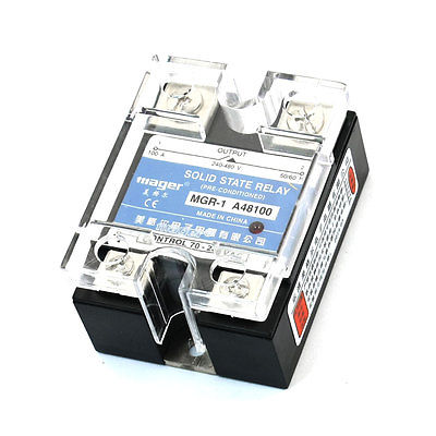 AC 24-480V 100A Single Phase AC Control AC Solid State Relay MGR-1 A48100 beroun hs650 10kw three phase 380v single phase 220v power remote control thermostat temperature control switch