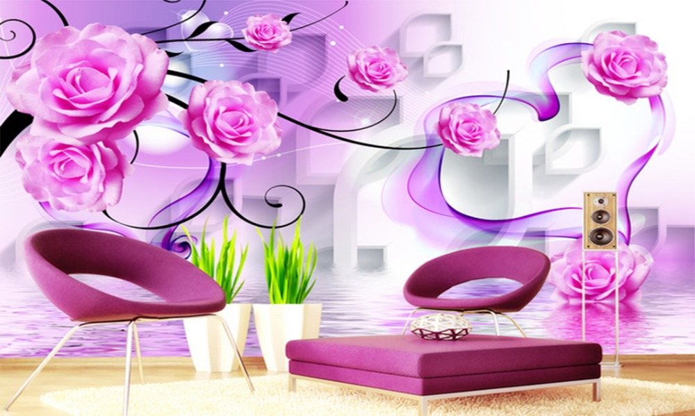 Custom Any Size Mural Wallpaper 3D Diamond TV Background Wall Decoration Mural Wallpaper in Wallpapers from Home Improvement