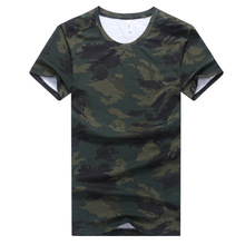 AmberHeard Fashion Summer Men Short Sleeve T-shirt Casual Camouflage Cotton Elastic Fitness Tops Tees T shirt For Clothing