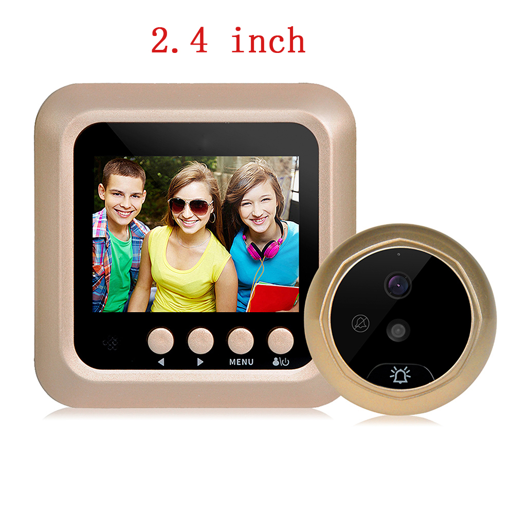 Video-eye Visual Monitor Door Peephole Camera 2.4 inch LCD 90 Degree View Angle Wireless Video night vision Ding Dong doorbell семейные футболки ding dong 505 15
